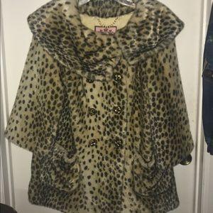 Long juicy couture cheetah print coat